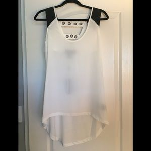 NWT Kardashian Kollection Hi-Low Tank Top XS Cute!